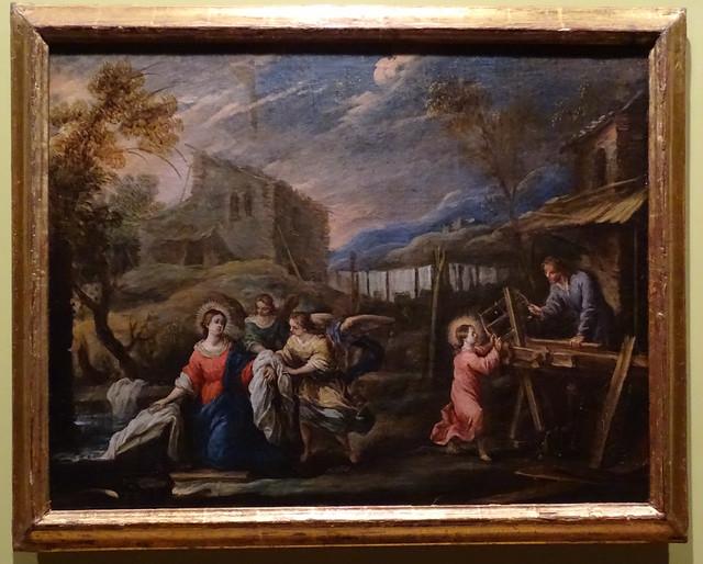 El taller de Nazaret Museo del Castillo de javier Pinturas sobre la vida de Jesucristo Navarra