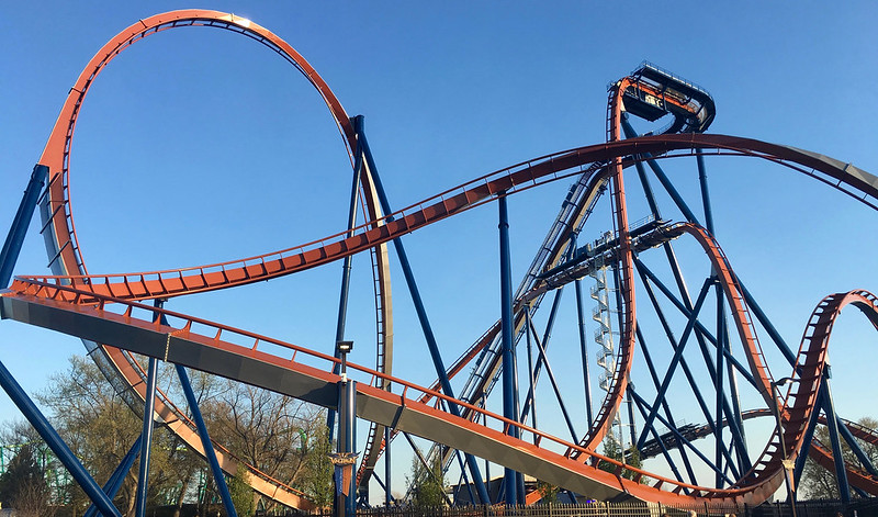 Cedar Point Valravn track (5232)