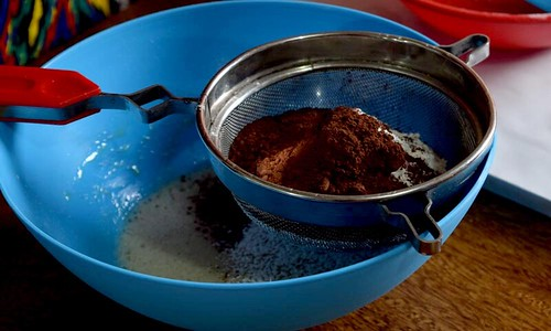 Chocolate Roll Cake Dry Ingredients