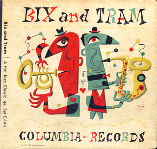 Bix & Tram - Columbia Records 1947, cover by Jim Flora