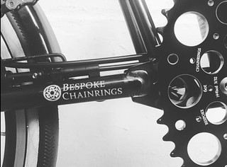 @sdrmn_13 showing appreciation for the De Luna on his Brompton with another beautiful photograph 🙌👌 #bespokechainrings #60t #deluna #chainring #brompton #bromptonbicycle #bromptonlovers | by bespokechainrings