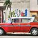 CUBA Morón Coche Rojo