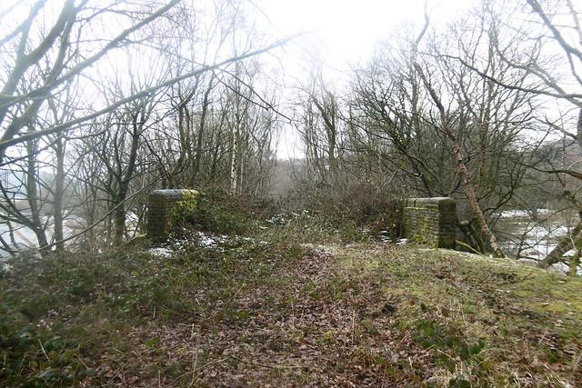 Former  railway bridge over farm nr Huddersfield Rd   Meltham Branch  old railway    March 2018