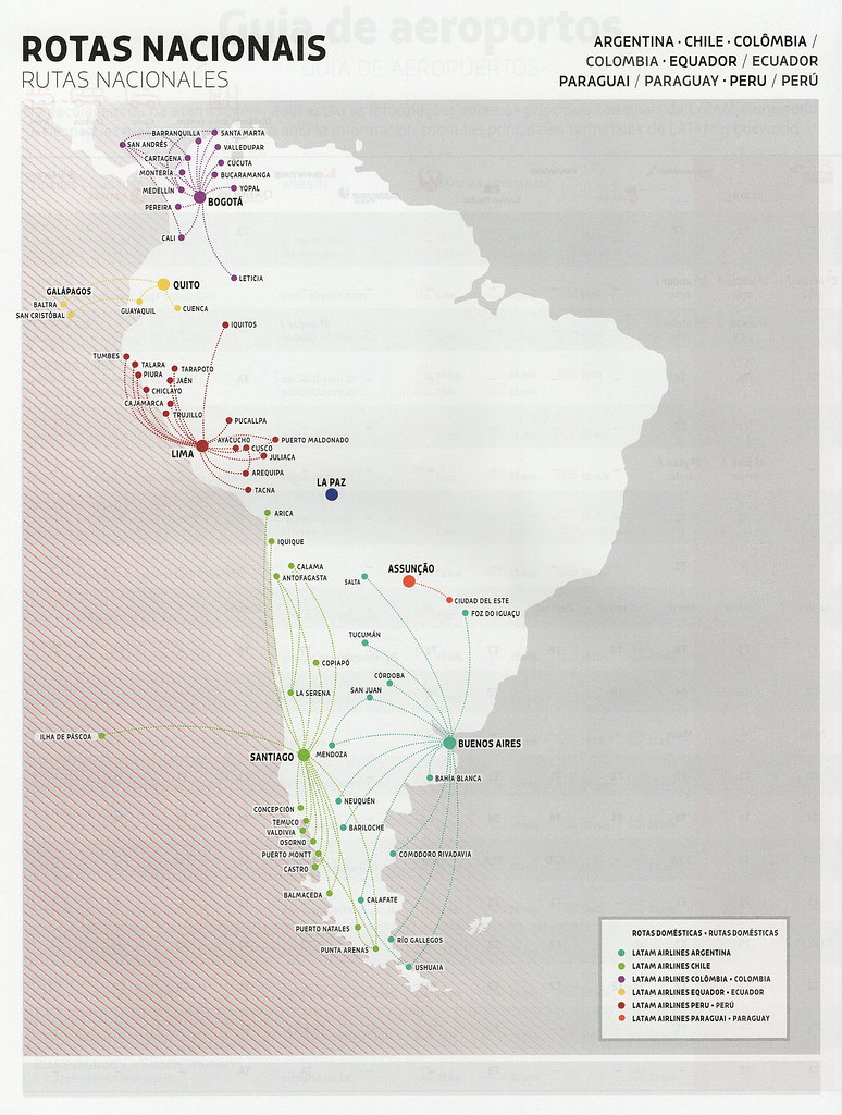 Map Of South America 2017.Latam South America Domestic Routes 2017 Latam Airlines S Flickr