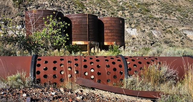 Abandoned early 20thC coal processing equipment - Wayne, Rosebud River Valley, Alberta..