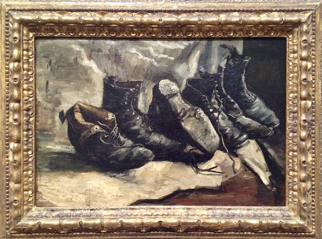 Vincent van Gogh, Three Pairs of Shoes, 1886–87. Oil on