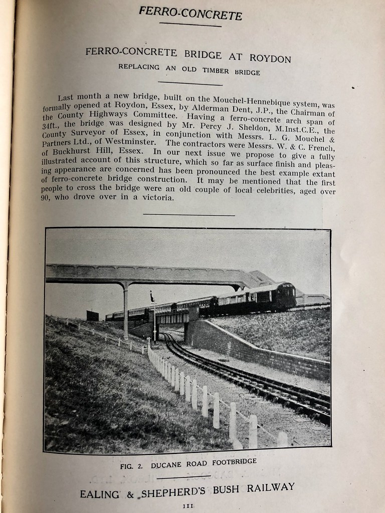 Ealing & Shepherd's Bush Railway (Central line Ealing Extension) from 1919/20 Ferro-Concrete Magazine