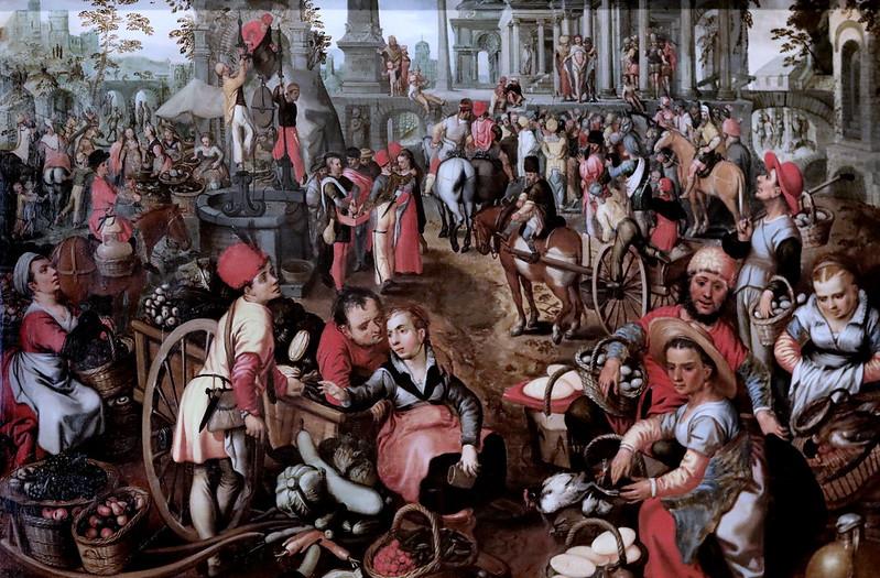 IMG_3006T Joachim Beuckelaer 1530-1574 Anvers   Marché avec l'Ecce Homo. Market with Ecce Homo vers 1561  Nancy Musée des Beaux Arts