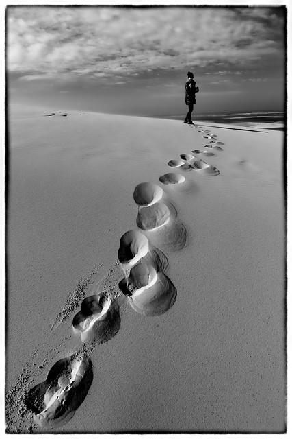 Chemin dans la sable - Dune de Pilat - Bordeaux