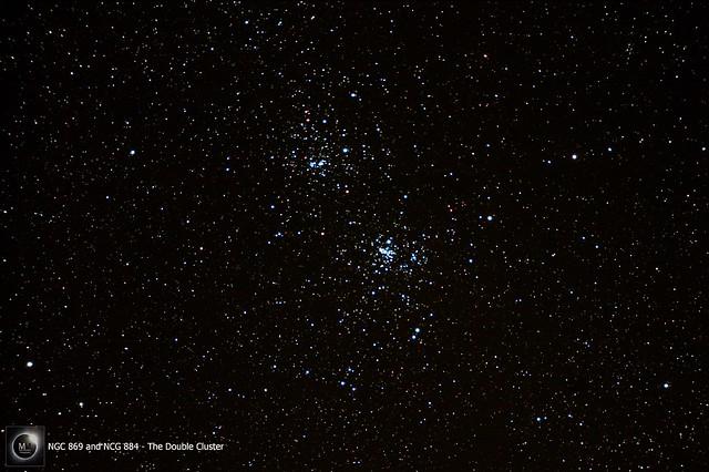 NGC 869 & NGC 884 - The Double Cluster 13/03/18