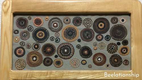 17. Brown Circles | by Beelationship Embroidery Studio