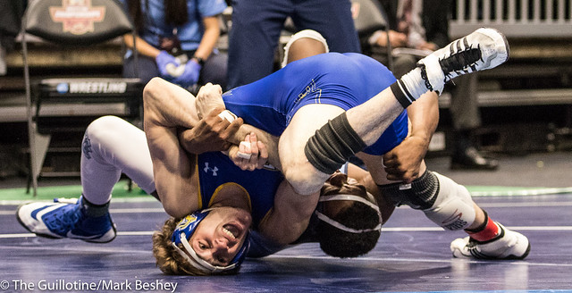 157 157 Cons. Round 4 - Luke Zilverberg (South Dakota State) 33-10 won by decision over Kennedy Monday (North Carolina) 21-16 (Dec 6-5) - 180316bmk0381