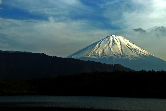 Mt.Fuji (Unesco's World cultural heritage) : viewed from Lake Saiko