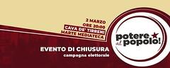 """#AgendaPolitica  Ora intervengo alla chiusura della campagna elettorale a #CavadeTirreni con gli altri candidati, presso il Marte Mediateca, al C.so Umberto I.   """"strada per strada, voto per voto""""  #VozaCapolistaSenato #DalBassoControLAlto #PotereAlPopolo"""