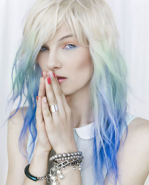 Blonde To Blue Ombre Blue Pastel Ombre Hairstyle محمد شكر Flickr