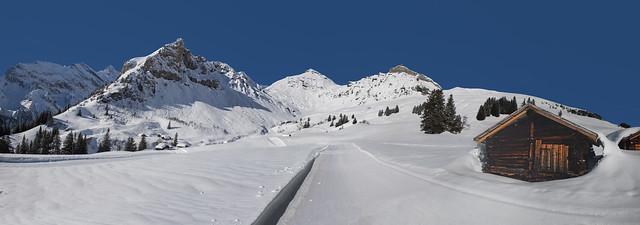 Gimmela  , The Schilthorn Mountain and Birg.  (Canton of Bern)Switzerland at winter time.