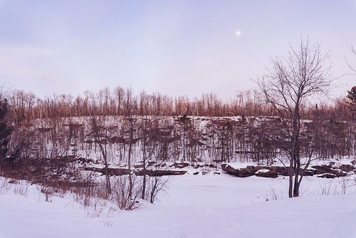kettleriver minnesota robinsonpark moonrise river sandstone snow sunset winter unitedstates us