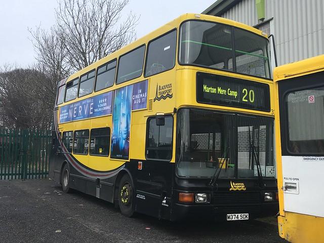 Blackpool transport 374 seen in Dewsbury 11/3/18