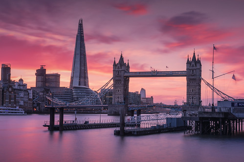 london shard river thames tower bridge sunset sunrise