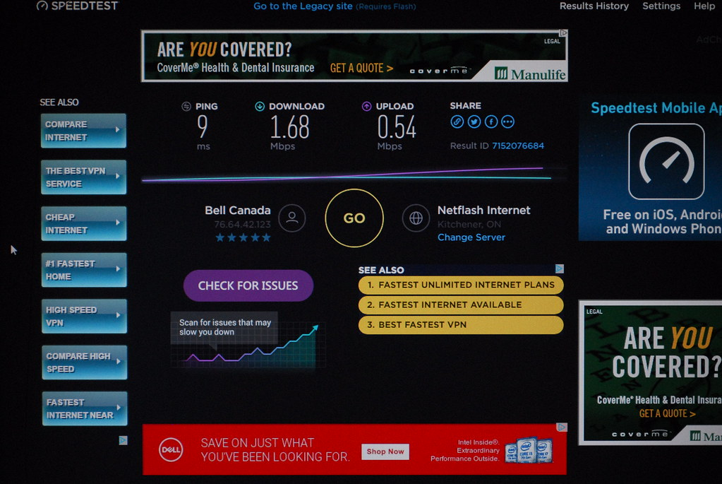Dismal Internet Speeds, such a shame for a Developed Count