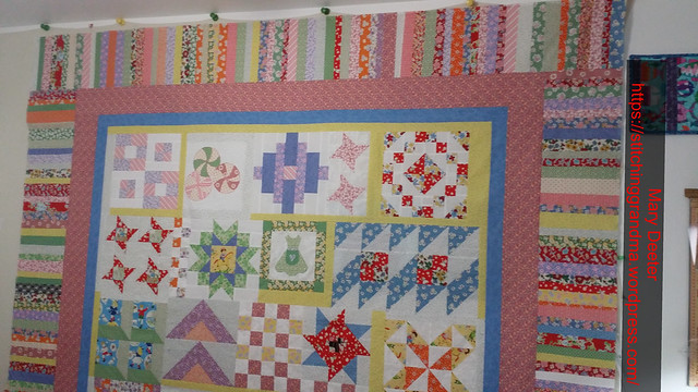 Pieced border on Grandma's Kitchen