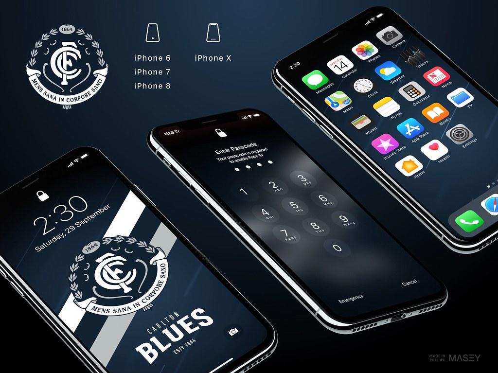 Carlton Blues iPhone Wallpaper