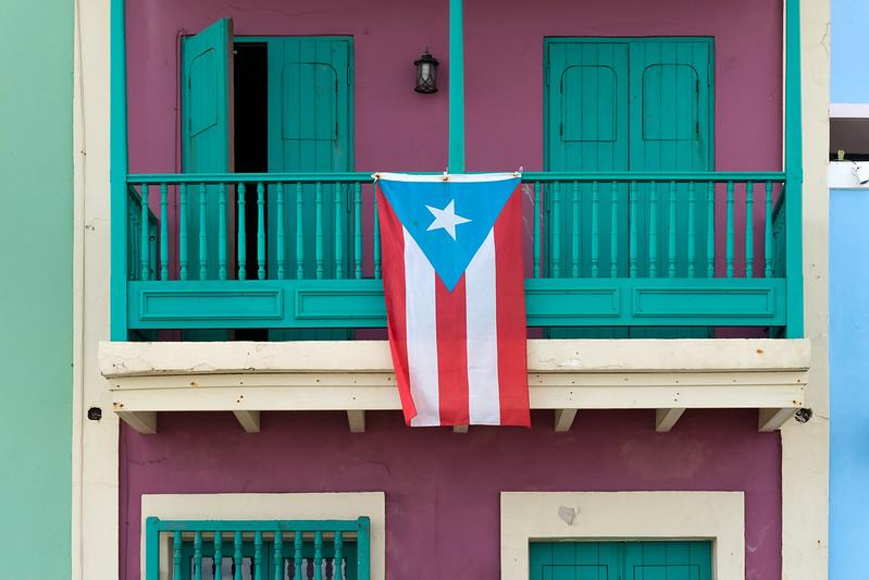 Puerto Rican flag in Old San Juan, Puerto Rico