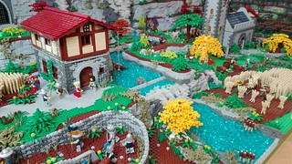 Lego medieval village