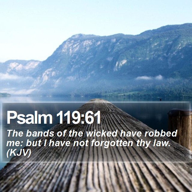 Daily Bible Verse - Psalm 119:61 | Psalm 119:61 The bands of… | Flickr