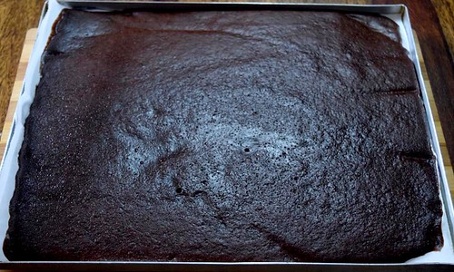 Chocolate Roll Cake After baking