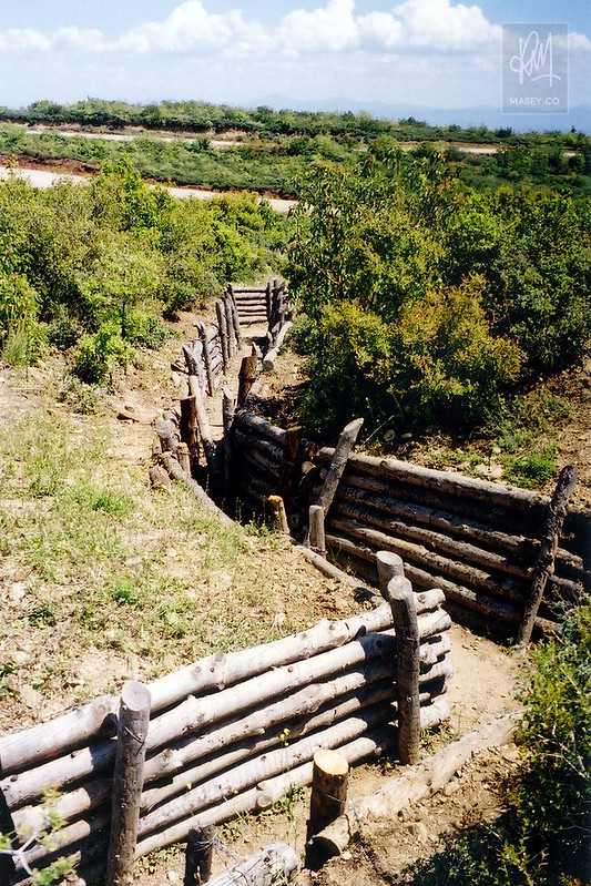 The remnants of trench warfare on the peninsula