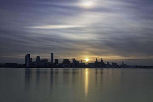cloudscape cityscape river three mersey graces liver building long exposure seascape landscape sunrise