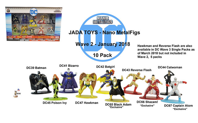 Jada Toys - Nano MetalFigs - DC Wave 2 - 10 Pack