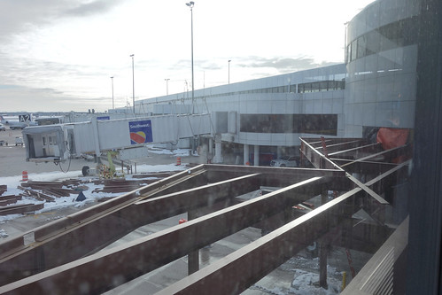 ROC Greater Rochester International Airport atrium west expansion construction 2018 March 5 photo 1