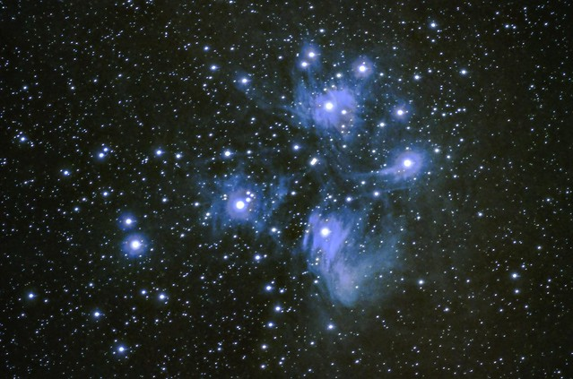 M45 the Pleiades from 25th Nov 2017 - Reprocessed