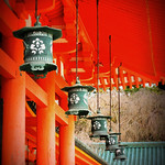 Hanging lanterns Heian-jingu Shrine