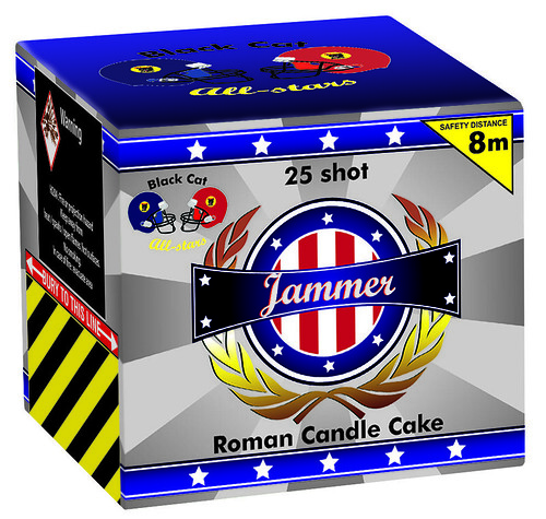 Jammer 25 Shot Cake by Black Cat Fireworks