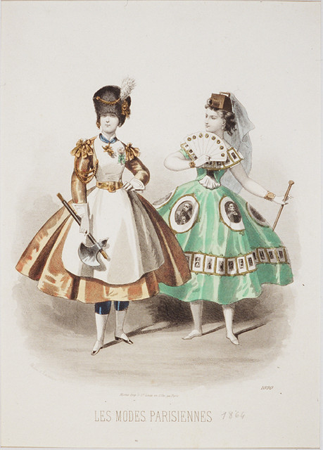 P. Lacouriere 1866 Fashion Illustration