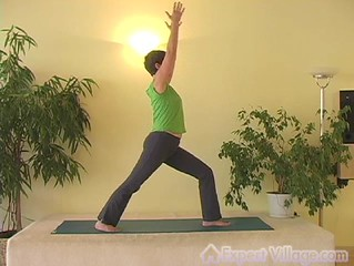 Warrior One Pose Yoga Video | by ExpertVillage.com