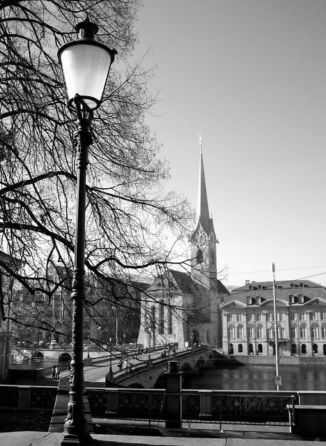 Zurich in black and white