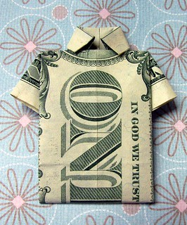 Origami dollar t-shirt | by Vaguely Artistic