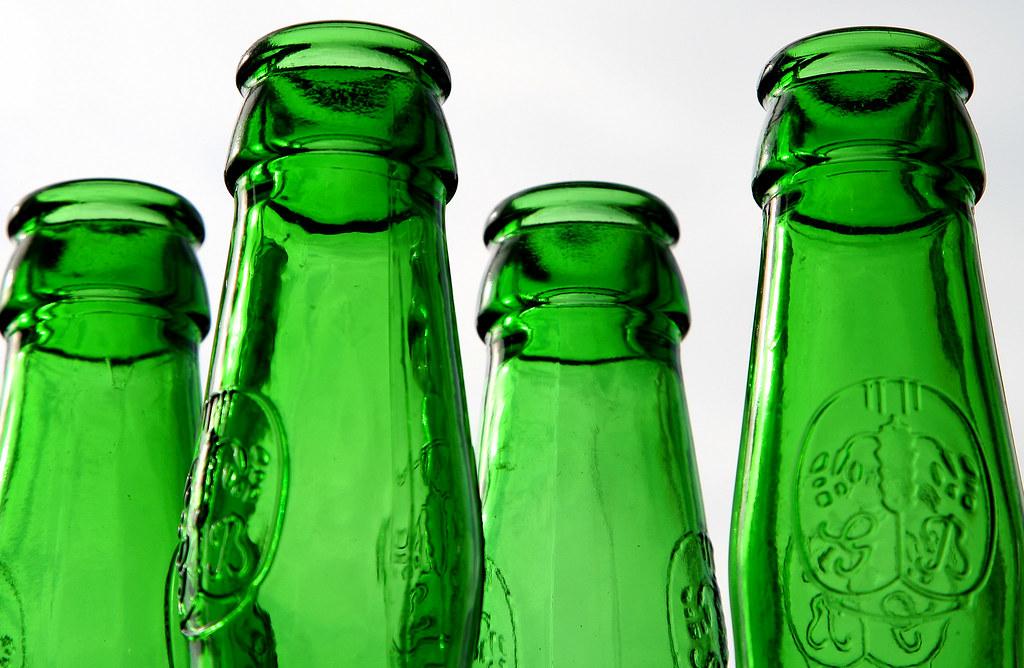 Four green bottles...