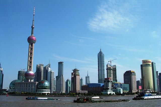Shanghai Skyline seen from the Bund