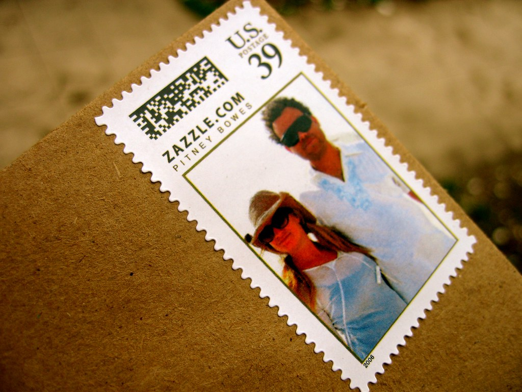Custom Stamp From Zazzle   We made our own wedding invitatio