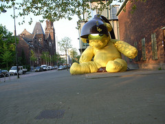 big yellow bear-lamp