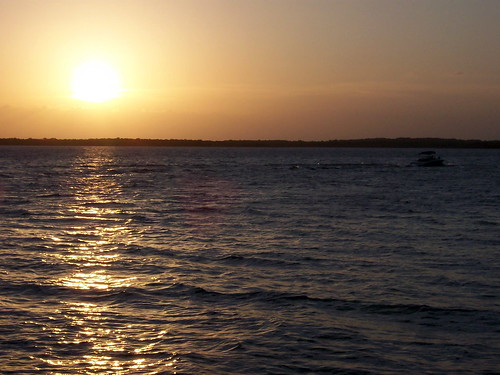 sunset sky sun lake water clouds waves lakerayroberts