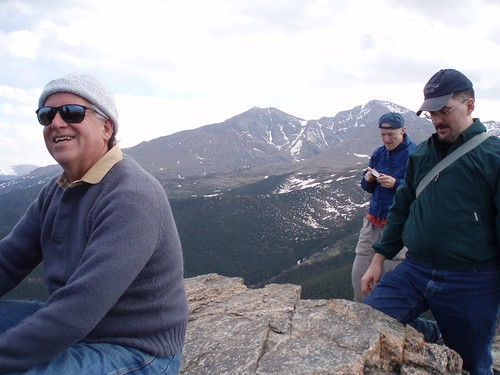 Jeff, Wayne and Robert on Estes Cone - Twin Sisters in the background