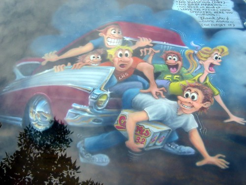 detail of car hood, drive-in theater theme | by Paul L Dineen