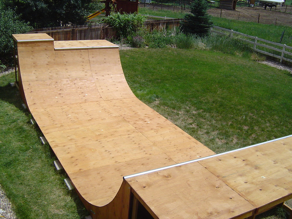 Half-pipe in the backyard   Designed and built by a highly ...