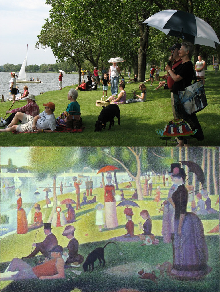 First example of Seurat Painting Photo